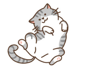 バランスアルファを飲んで元気になった猫